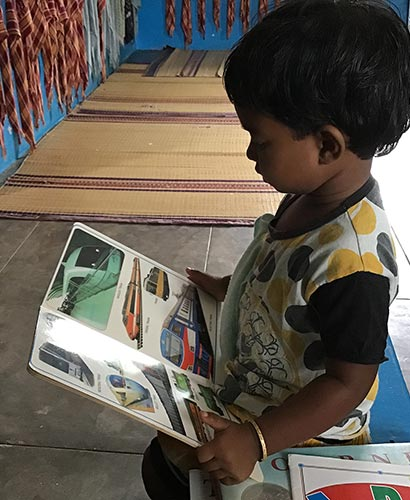 Help Kids India - child reading