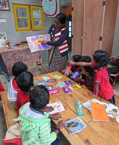 Help Kids India - children reading