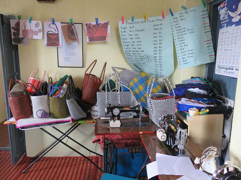 The Sewing Center provides much needed income for its workers.