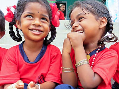 Help Kids India - two little girls together